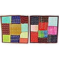 2 Home Decorative Indian Handmade Cotton Cushion Cover Patchwork Embroidered 16 X 16 Inches