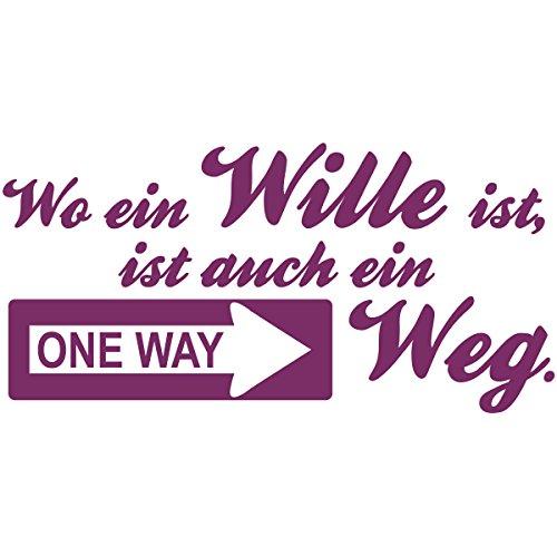 WANDKINGS Wandtattoo – Wo ein Wille ist, ist auch ein Weg – Wähle aus 5 Größen & 35 Farben