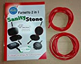 Set 2 Guarnizioni in Silicone per Fornetto Eco-Stone, Sanity-Stone, Mister Kitchen, Dimensione unica adattabile alle misure 30-32-36