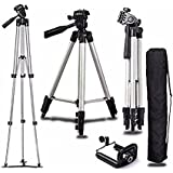 CEUTA (™) , [ Portable Camera Tripod ] Light Weight Tripods With Black Carry Travel Bag | Universal Travel Tripod | Three-dimensional Head | Tripod For DSLR Camera | Fully Flexible Mount Cum Tripod Stand | 3-section Lever-lock Legs For Easy Height A