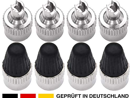 ANYKING Set (16-Teile) 8X Autoventil-Schlüssel Kappen, Werkzeug, Ventil-Ausdreher, Reifenventil-Entferner, Ventil-Eindreher, Ventil-Schrauber, Tool für Auto-Ventile, Schrader-Ventil Motorrad LKW -