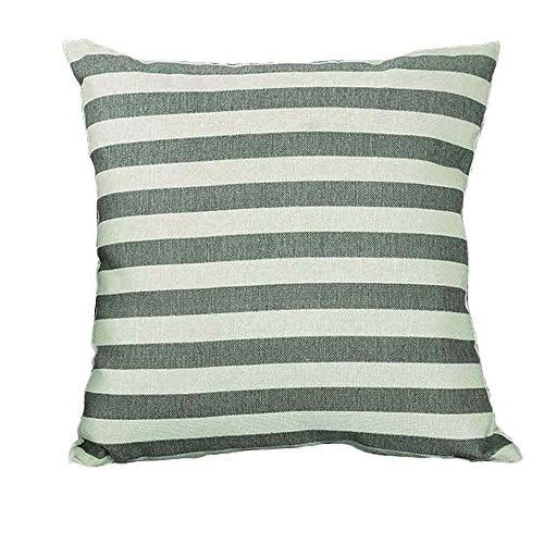 Andouy Luxury Velvet Throw Pillow Case, Accent Confortevole di Argento Stripe Square Sham Cuscino Decorativo Cuscino, Best coperture per Divano Letto Home Decor