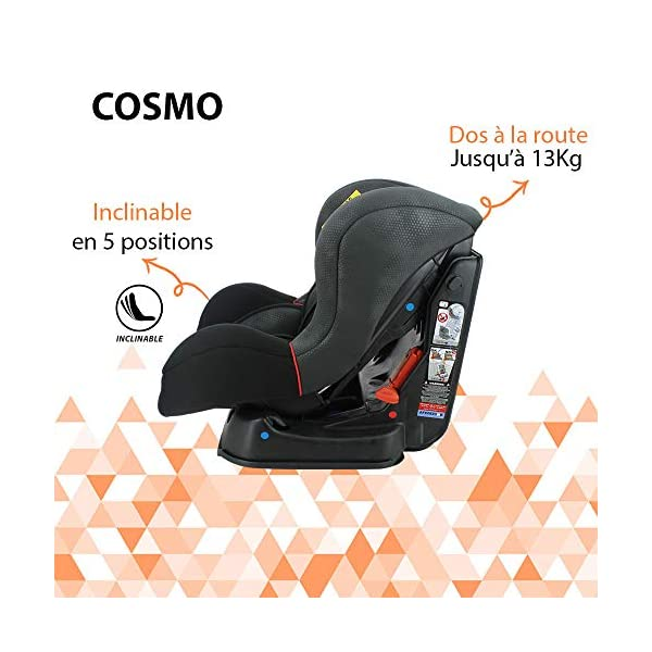 Nania Cosmo Group 0+/1 Infant Car Seat, Pink nania Forward and rear facing car seat Side impact protection Harness sleeves and quick release buckle 6