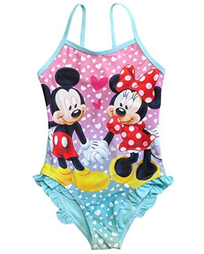 Minnie Mouse Badeanzug Kollektion 2018 Badesachen 92 98 104 110 116 122 128 Schwimmbekleidung Bademode Sommer Türkis (Türkis, 98) (Peppa Badeanzüge Für Mädchen)