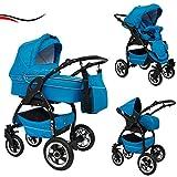 16 teiliges Qualitäts-Kinderwagenset 3 in 1 Maked 'LUCKY': Kinderwagen + Buggy + Autokindersitz +...