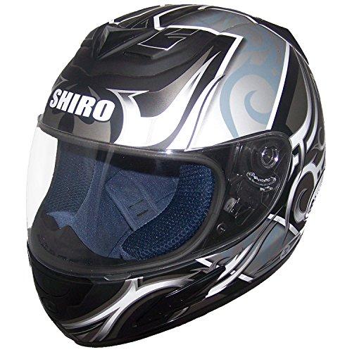 Shiro SH996 Symbol II Gr. L Weiss-schwarz-silber * Intgralhelm * Motorrad * Roller * Quad * (Helm-moto-symbol)