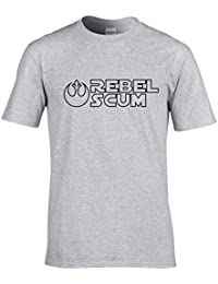 Naughtees clothing Rebel scum T-shirt. Join Han, Leia and Chewie to fight The Empire.