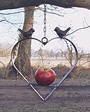 Deko-Herz für Vogelfutter, antique Shabby Chic, Meisenknödel-halter