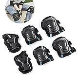 Overmont Kit de protection 6 pièces Protège-paume + Coudière + Genouillère de de skateboard, roller, vélo, patin à glace etc. pour enfant/adulte (S/M/L)
