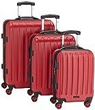 Packenger Premium Koffer 3er-Set Velvet, M/L/XL, Rot