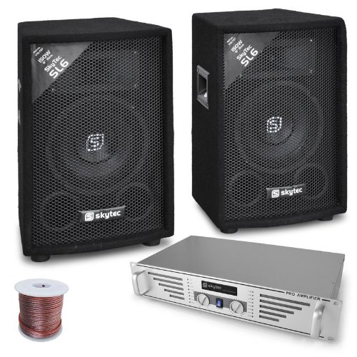 Rookie set DJ amplificatore 2 casse 800W