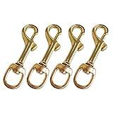 Baoblaze Mini Karabiner aus Messing mit Drehgelenk Karabinerhaken Schlüsselanhänger - 4 Stück