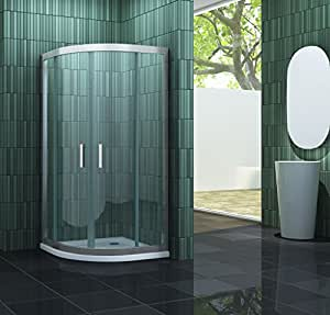 cabine de douche frame r 80 x 80 cm quart de cercle sans bac bricolage. Black Bedroom Furniture Sets. Home Design Ideas
