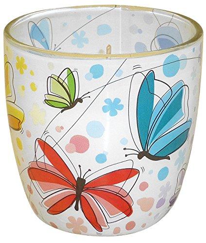 "Duftkerze im Glas mit Fotomotiv ""Butterfly"" Duft Blütentraum"