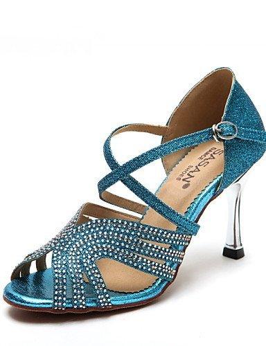 Non Jazz Brillante Talon Danse Personnalisables Moderne Chaussures latine Autre Bobine Shangyi De Cuir Paillette Gold YnqwU7In