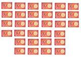 Krisah® 31 pcs Mahalaxmi ATM Card Coin-Gold Plated (31)