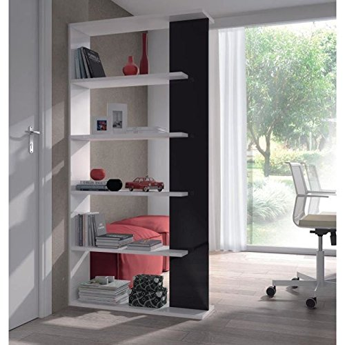 habitdesign-0t2252bo-estanteria-5-baldas-color-blanco-y-negro-brillo-dimensiones-90cm-ancho-x-180cm-
