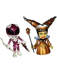 Mighty Morphin Power Rangers Pack de 2 Minifiguras Metallic Rita vs Pink Ranger 8 cm