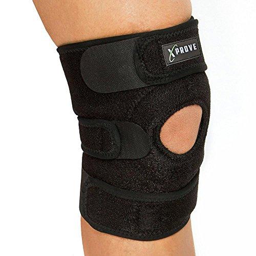 Atmungsaktive Kniebandage + Hochwertige Knieorthese schützt u. beugt Verletzungen vor + Stabilisierend + Schmerzlindernd + Entlastung beim Sport u. bei Belastungen + Universalgröße für Damen u. Herren