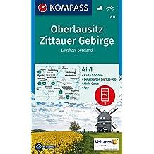 Oberlausitz, Zittauer Gebirge, Lausitzer Bergland: 4in1 Wanderkarte 1:50000 mit Aktiv Guide und Detailkarten inklusive Karte zur offline Verwendung in ... (KOMPASS-Wanderkarten, Band 811)