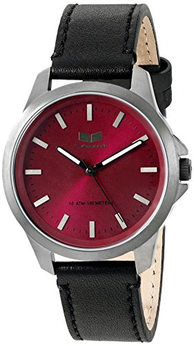 Vestal Men's HER3L05 Heirloom Leather Analog Display Japanese Quartz Black Watch