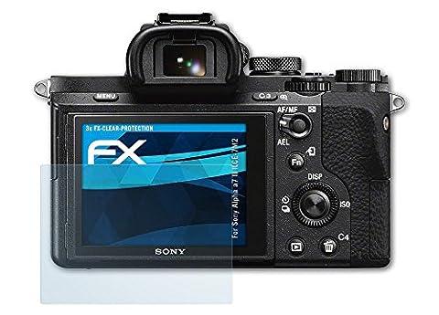 Sony Alpha a7 II (ILCE-7M2) Schutzfolie - 3 x atFoliX FX-Clear kristallklare Folie Displayschutzfolie