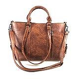 Modesty Damen Handtasche Damen Henkeltasche Elegante Umhängetasche für Damen weibliche Schultertasche (Braun WW004