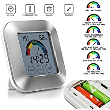 Amazing indoor termometro umidità monitor touchscreen display timer digitale retroilluminato
