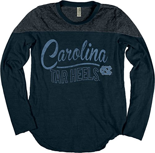 Blue 84 NCAA North Carolina Tar Heels Damen-T-Shirt, langärmelig, Yoke, Größe XL, Indigo -