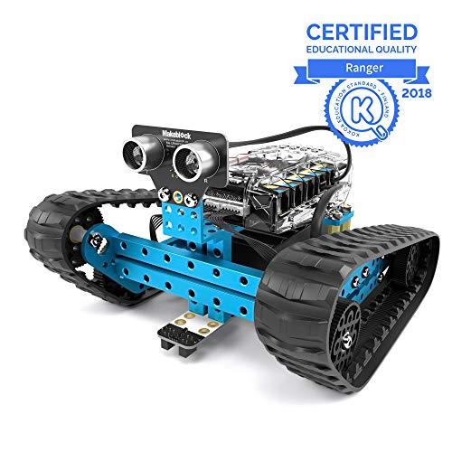 Makeblock mBot Ranger Roboter, Codiertes Spielzeug, 3-in-1-Programmierbarer Robot Bausatz, 3 Formen mit Me Auriga, Bluetooth Version, Programmierbare Roboter Spielzeug für Kinder