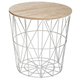 Atmosphera Table à café Kumi en métal - Gris