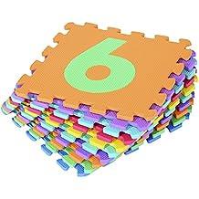 Alfombra Puzle 0.93㎡ Niños 3 Años 10 Numeros Espuma EVA Estera Juego Puzzle