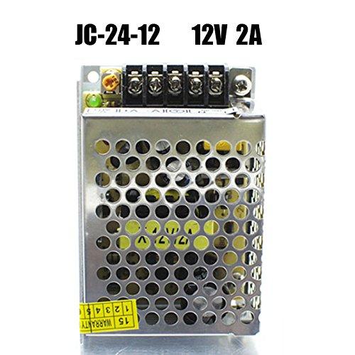 Bsod Universal-geregelte DC-12V 1A / 2A / 3A / 5A Schaltnetzteil -Treiber, führte eine gute Wärmeableitung Beleuchtung Projekt AC-DC-Wandler in Aluminium-Box von Bsod (12V 2A) (12v 5a Cctv-stromversorgung)