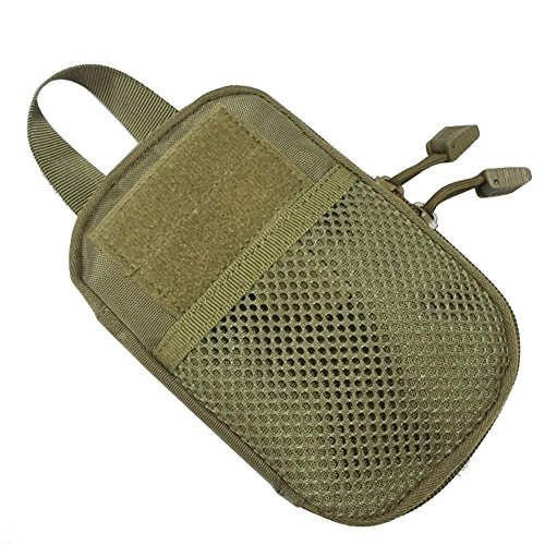 Hzone Tactical bag, borsa marsupio tasca Compact Outdoor molle del sacchetto per 14 cm Smart Phone, Black army green