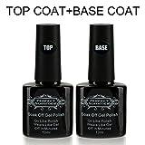 Perfect Summer Base et Top Coat Semi-Permanent pour Vernis Gel Semi Permanent UV LED Soak Off Nail Art Manucure 2pcsX10ml
