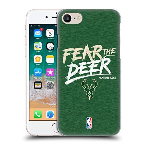 Head Case Designs Offizielle NBA Bucks Fear The Deer 2018/19 Team Slogan Harte Rueckseiten Huelle kompatibel mit iPhone 7 / iPhone 8 - Nba-team Iphone