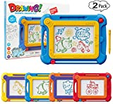 Magnetic Drawing Pad Board for Toddlers Kids, 2 Pack Colorful Drawing Board Pad Toys Gifts for Writing,Sketching,Painting, Travel Size Gaming Pad, Educational Learning