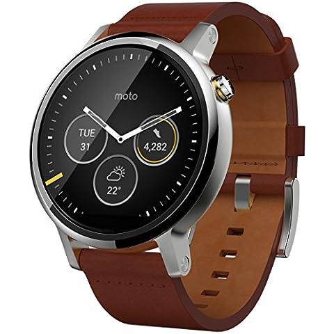 Motorola Moto 360grande 2nd generación Smartwatch–coñac marrón piel