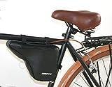 DIEFFE Borsello Spallaccio Borsetta per bici telaio UOMO Vintage in eco pelle - Nero