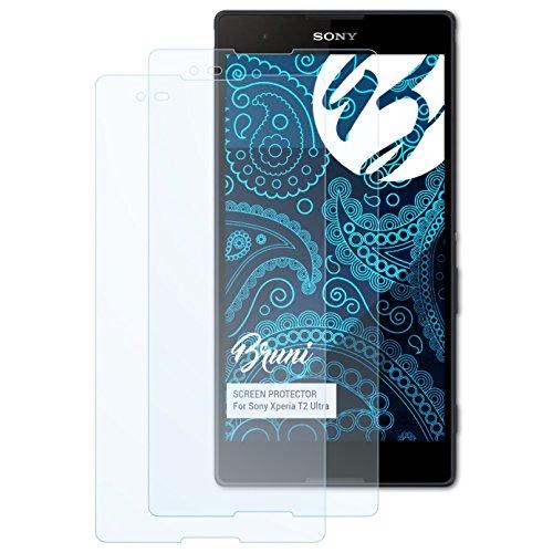 Bruni Schutzfolie kompatibel mit Sony Xperia T2 Ultra Folie, glasklare Bildschirmschutzfolie (2X)