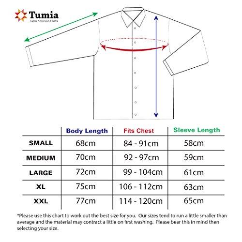 Sommer Bluse mit Tunnelzug aus Baumwolle, ethisch gehandelt, lange Ärmel - aus Ecuador für Tumi gefertigt - leichtes, kühles Material Beige