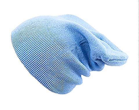 4sold (TM) Oversized Baggy Fit Slouch Style Beanie Beany Cap brand 4sold (Plain Light Blue)