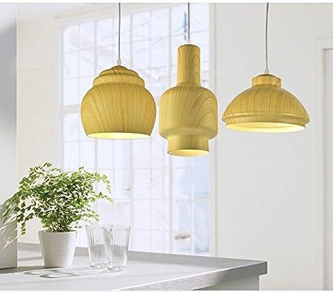 OLQMY-Lustre de peinture aluminium LED , teak