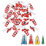 #5: Segolike 50 Pieces Plastic Red Wonder Clips with Set of 4 Sizes Sewing Quilting Bias Binding Maker Tape Maker