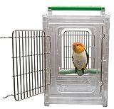 Paradise Toys Sitzstange und Go klare Sicht Vogel Carrier und Reisen Käfig