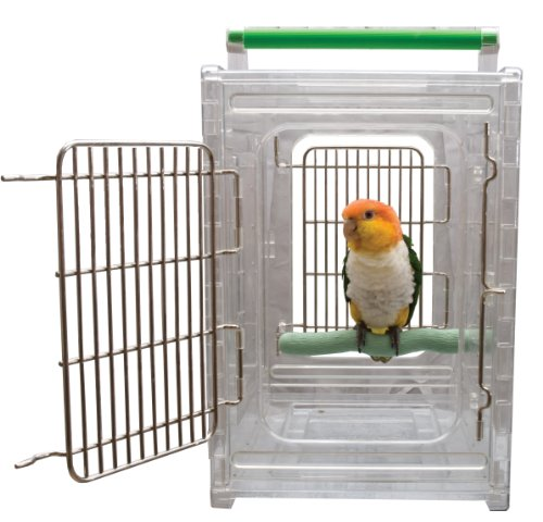 Paradise Toys Sitzstange und Go klare Sicht Vogel Carrier und Reisen Käfig (Reise-vogel Käfige Papageien Für)