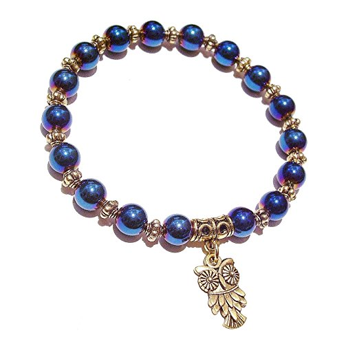 bracelet-elastique-haematite-bleu-et-dore-env-205cm