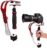 AFUNTA Aluminum Alloy Handheld video Camera Stabilizer Steady, compatible with GoPro, Cannon, Nikon or any DSLR camera,carry weight up to 2.1 lbs - Red + Silver + Black