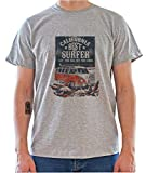 California Best Surfer. Camper Van Retro Poster Mens T-Shirt Large