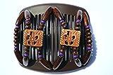 African Butterfly Beada 105411cm braun Haarspange/Haarkamm Kamm